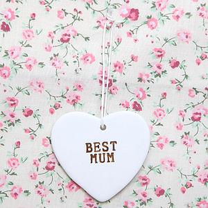 Ceramic 'Best Mum' Heart