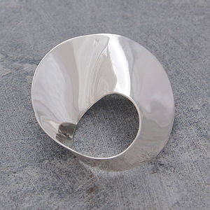Silver Wave Brooch