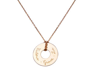 Mother's Open Disc Chain Necklace
