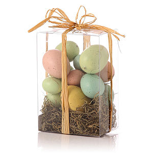 Box Of Decorative Eggs - easter home
