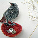 Redstart Nest Brooch