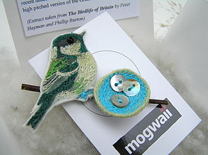 Coal Tit Nest Brooch - pins & brooches