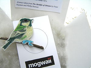 Coal Tit Brooch - pins & brooches
