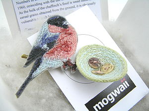 Bullfinch Brooch - women's jewellery