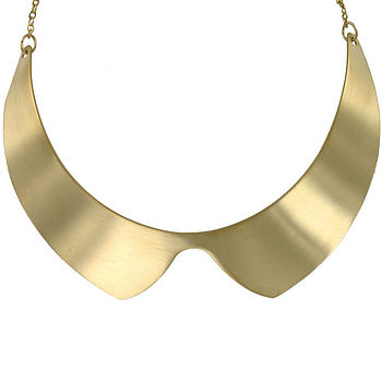 Gold Matt Collar Necklace
