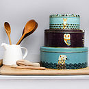 Set Of Three Wildlife Storage Cake Tins