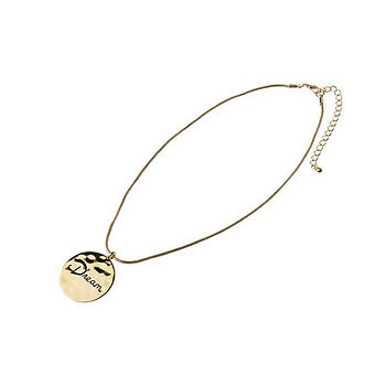Sentiment Disc 'Dream' Necklace