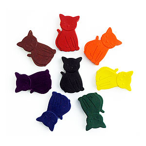 Set Of Eight Cat Crayons