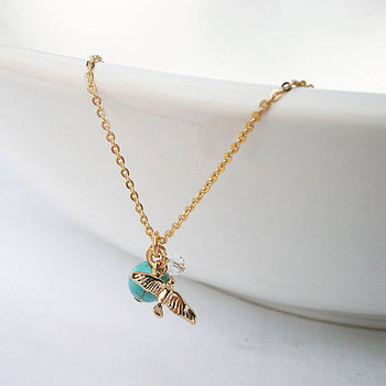 Semi Precious Bird Necklace