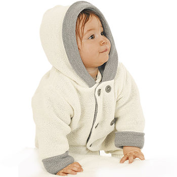 Thick Knitted Organic Merino Wool Baby Coat