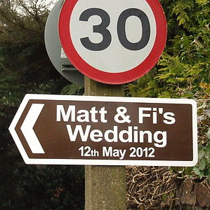 Personalised Wedding Sign - outdoor decorations