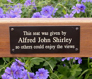 Personalised Memorial Bench Plaque