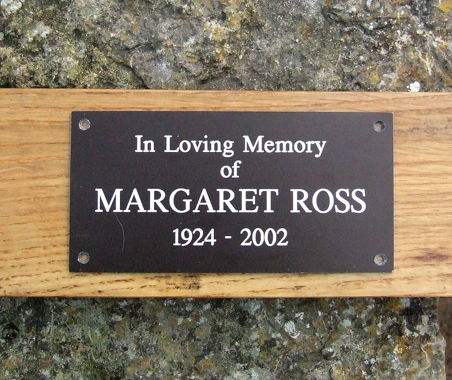 Personalised Memorial Bench Plaque By England Signs