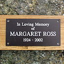 memorial bench plaque
