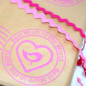 'Best Mum' Hand Printed Wrapping Paper