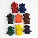 Set Of Eight Robot Crayons