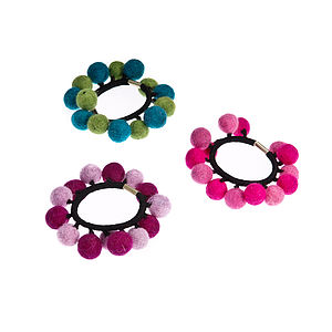 Handmade Felt Balls Hair Tie - shop by price