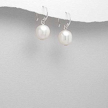 Earrings Sterling Silver & Freshwater Pearl
