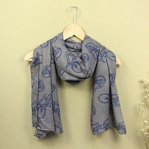 Bicycle Print Scarf - accessories