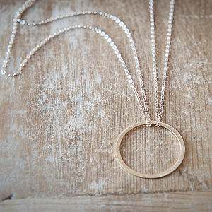 Infinity Circle Pendant Necklace