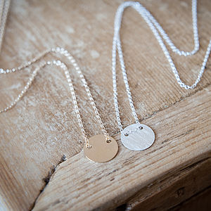 Delicate Disc Necklace