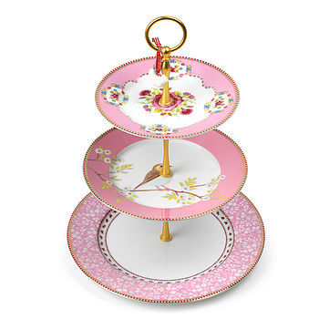 PiP Studio three tier cake stand Pink