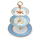 PiP Studio three tier cake stand blue