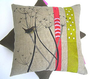 Cow Parsley Cushion - cushions
