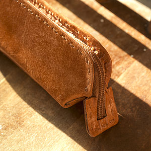 Leather Pencil Case - stationery