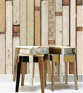 Dutch Scrapwood Wallpaper One - bedroom