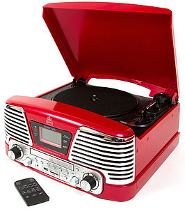 Gpo Memphis Retro Style Vinyl Record Player