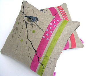 Birch Branch Cushion - patterned cushions
