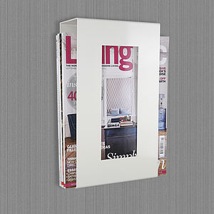 Wall Mounted Magazine Storage Rack - office & study