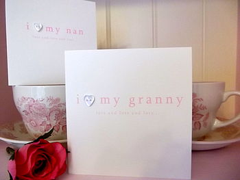 'I Love My Nan/ Granny' Handmade Card