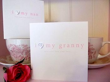 'I Love My Nan/ Granny' Handmade Card