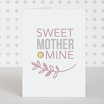 'Sweet Mother' Mother's Day Card