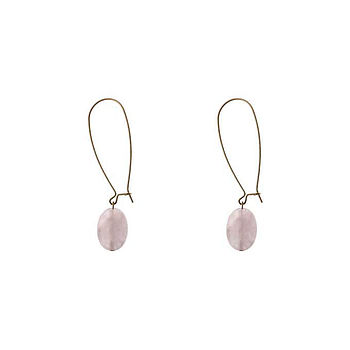 Precious Stone Dangle Earrings
