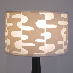 Ripple Print Lampshade - lighting