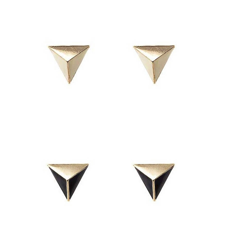 set of two triangle earrings by kikis notonthehighstreet.com