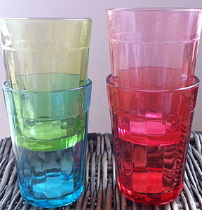 Set Of Four Colourful Glasses - drink & barware