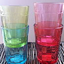 Set Of Four Colourful Glasses