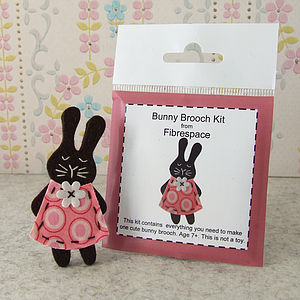 Bunny Brooch Mini Craft Kit - pins & brooches