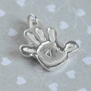 Personalised Handprint Charm - mother's day gifts