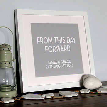 Personalised 'From This Day' Wedding Canvas