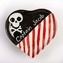 Pirate Captain Heart Plate