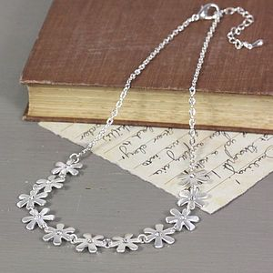 Silver Daisy And Gem Necklace - women's jewellery