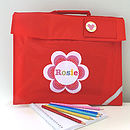 Girl's Personalised Book Bag
