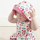 Cherry Flower Reversible Sun Hat