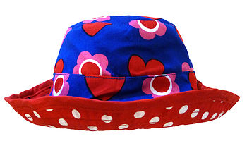 Heart Flower Reversible Sun Hat