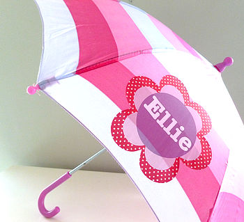 Girl's Personalised Umbrella